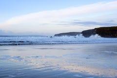 Cold winter waves crashing Stock Photos