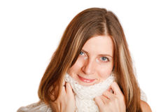 Cold Winter Woman Stock Image