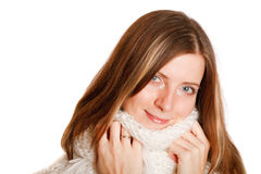 Cold Winter Woman Stock Images