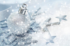 Cold wintery Christmas background Royalty Free Stock Images