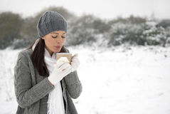 Cold woman Stock Photo