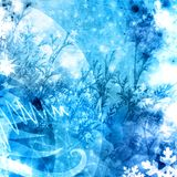Cold xmas winter texture background. Blue illustration Royalty Free Stock Image
