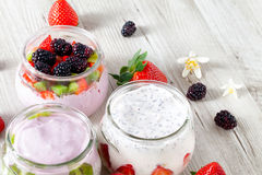 Cold Yogurt For Summer Days Stock Image