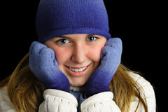 Cold young lady. Stock Images