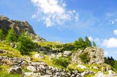 Coldai Dolomites, Italien arkivbild