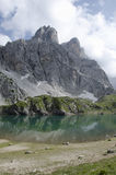 Coldai jezioro, dolomity, Włochy Zdjęcie Royalty Free