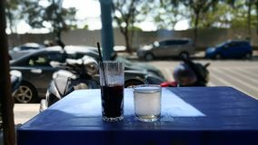 The colded coffee in Vietnam stock images