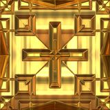 Colden cross Stock Photography