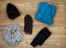 Colder Weather Clothing for Outdoors Stock Photos