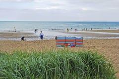 Coldingham沙子在苏格兰在英国, 07 08 2015年 免版税库存照片