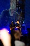 Coldplay στη συναυλία στοκ εικόνες