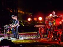 Coldplay in overleg Stock Afbeelding