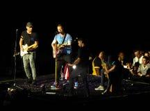 Coldplay som ett huvud av drömmar turnerar mycket i konsert i Los Angeles royaltyfri fotografi