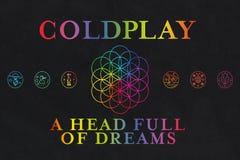 Coldplayalbums van Dromen stock illustratie