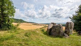 Coldrum Long Barrow, Kent, England. The Coldrum Long Barrow or Coldrum Stones is the remains of an early neolithic barrow built around 4000BC near Trottiscliffe royalty free stock photo