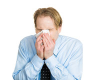 Colds, allergies Stock Images