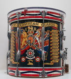 Coldstream Guards Regimental Drum Stock Photo