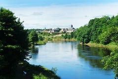Coldstream on river tweed stock photo