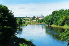 Coldstream sur le tweed de fleuve Photo stock