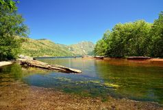 Coldwater lake in Mount St Helens national volcanic monument Stock Photo