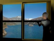 coldwaterlake Fotografering för Bildbyråer