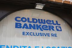 Coldwell银行家房地产机构 库存图片