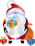 Coleção 015 do projeto de caráter: Santa ilustração stock