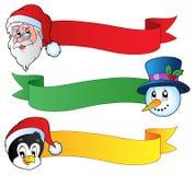 Coleção 1 das fitas do Natal Imagem de Stock Royalty Free