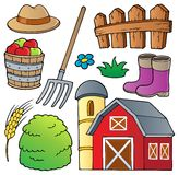 Coleção 1 do tema da exploração agrícola ilustração royalty free