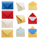 Coleção 1 dos artigos de papelaria, envelopes. Foto de Stock Royalty Free
