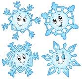 Coleção 1 dos flocos de neve dos desenhos animados Imagens de Stock Royalty Free
