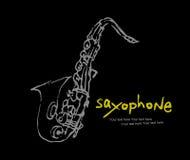 Coleção -1 dos instrumentos: Saxofone Fotos de Stock