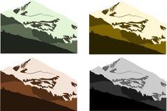 Coleção 2 das montanhas Fotografia de Stock