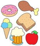 Coleção 2 do alimento ilustração royalty free