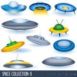 Coleção 2 do espaço Imagens de Stock