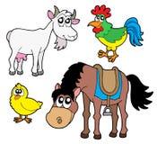 Coleção 2 dos animais de exploração agrícola Foto de Stock Royalty Free
