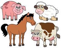 Coleção 2 dos animais do país ilustração royalty free