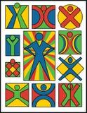 Coleção #2 dos logotipos dos povos ilustração royalty free