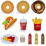 Coleção 3 do fast food Fotografia de Stock Royalty Free