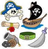 Coleção 3 do pirata Foto de Stock Royalty Free
