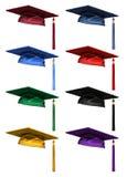 coleção 3D de tampões da graduação ilustração royalty free