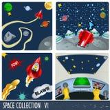 Coleção 6 do espaço ilustração royalty free