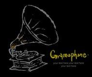 Coleção -6 dos instrumentos: Gramofone Fotos de Stock Royalty Free