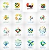 Coleção abstrata do vetor do logotipo da empresa Foto de Stock