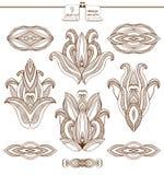 Coleção abstrata dos elementos do projeto ilustração do vetor