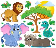 Coleção africana bonito 2 dos animais ilustração royalty free