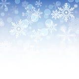 Coleção ajustada do ícone dos flocos de neve Formas do vetor Imagem de Stock Royalty Free