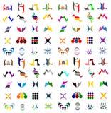 Coleção ajustada do vetor do logotipo do ícone Foto de Stock Royalty Free