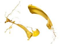 Coleção amarela do respingo da pintura Imagens de Stock