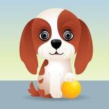 Coleção animal do bebê: Cão de filhote de cachorro Imagens de Stock Royalty Free